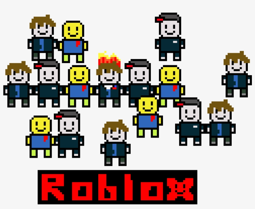 8bit Roblox Guest,noob And Bacon Hair - Roblox PNG Image