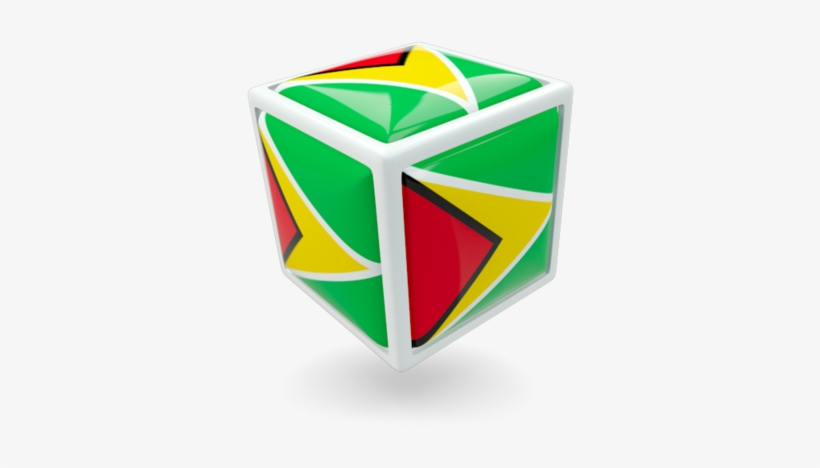 Illustration Of Flag Of Guyana - Happy Independence Guyana