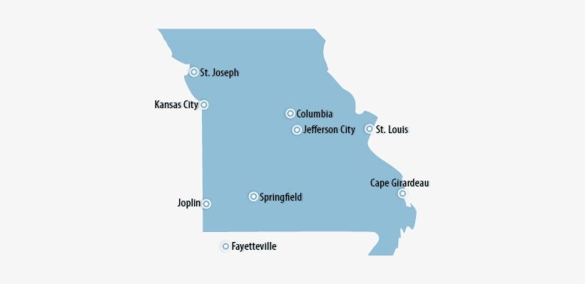 Kansas City Map Usa - Missouri\'s 4 Major Cities PNG Image ...