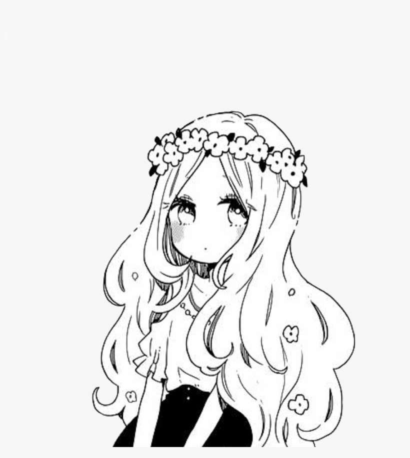 Girl Flower Flowers Animegirl Png Pngs Png Tumblr Cute