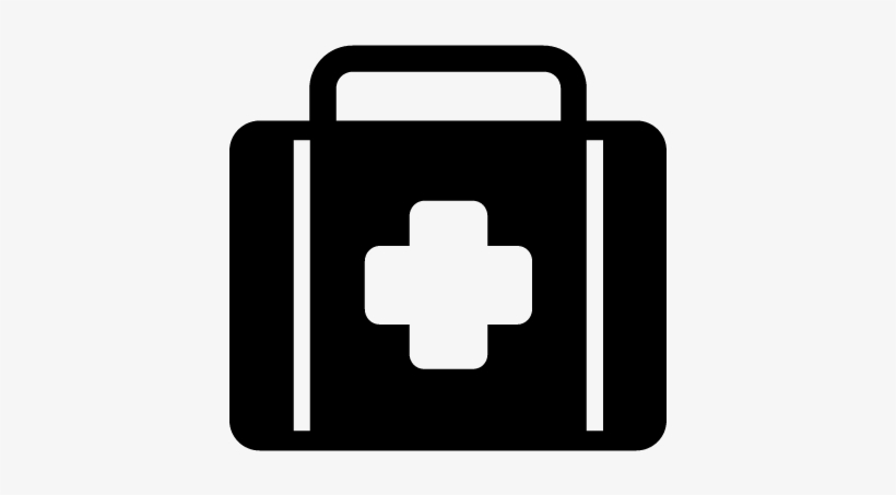 First Aid Kit Vector Safety Icon Black And White Png Image Transparent Png Free Download On Seekpng