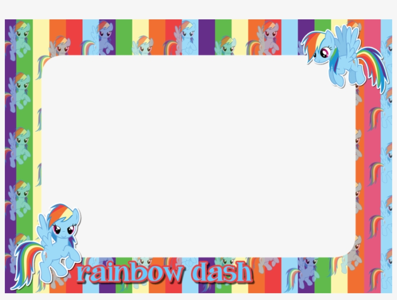Download Picture Frame Clipart Rainbow Dash Picture Kids Funny My