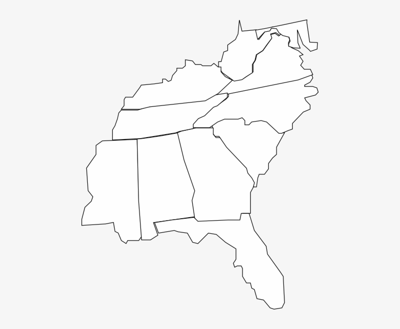How To Set Use Southern Us Map Clipart Image