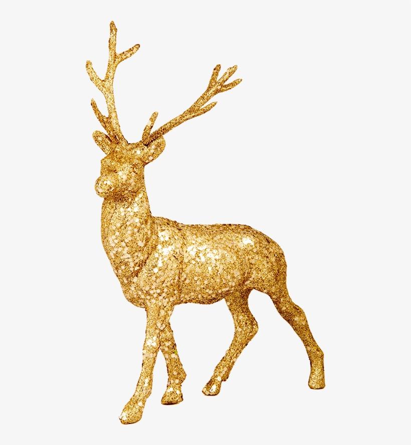 Christmas Reindeer Png.Illuminated Reindeer Clip Art Gold Christmas Reindeer Png