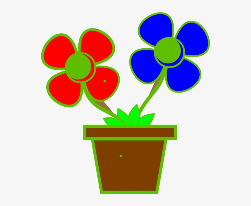 203 & Flower Vase Clipart At Getdrawings - Vase With 2 Flowers PNG Image ...