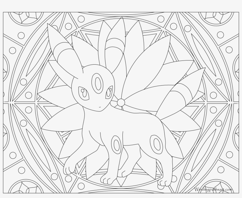 197 Umbreon Pokemon Coloring Page Pokemon Adult Coloring Pages Png Image Transparent Png Free Download On Seekpng