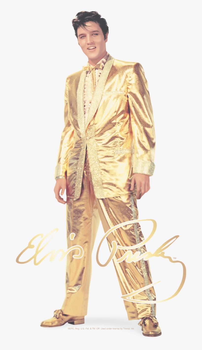 ee2475316e4 Elvis Presley Gold Lame Suit Men's Slim Fit T-shirt - Elvis Presley Gold  Suit
