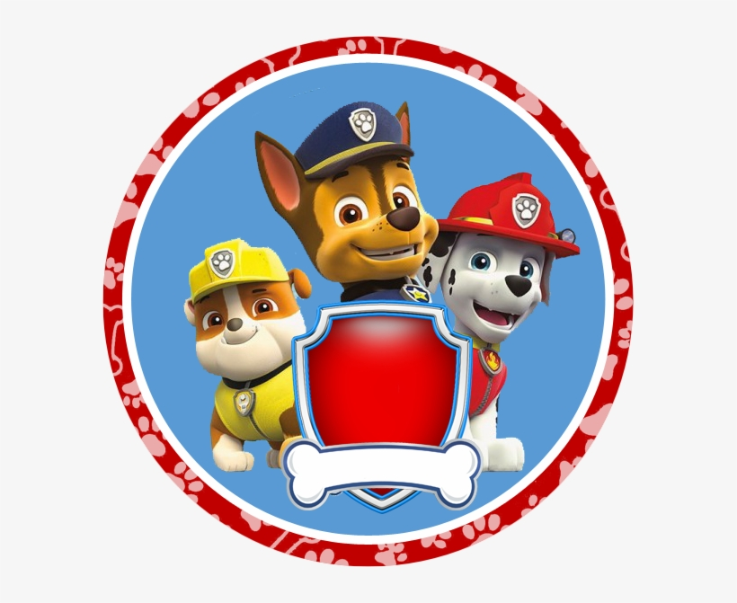 photo about Paw Patrol Printable Birthday named Paw Patrol Badges Free of charge Printable Birthday Banner Pink