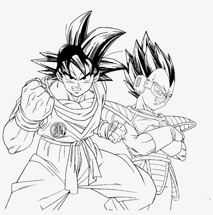 Dragon Ball Z Coloring Pages Line Art Png Image Transparent Png Free Download On Seekpng
