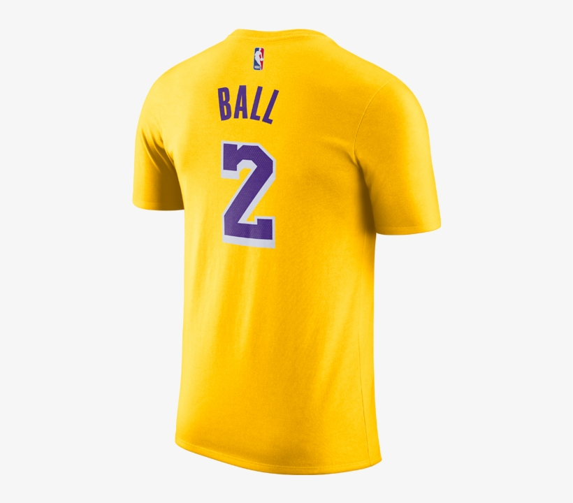d006f2b58 Los Angeles Lakers Lonzo Ball Icon Edition Player T-shirt - Atletico Madrid  Away Kit