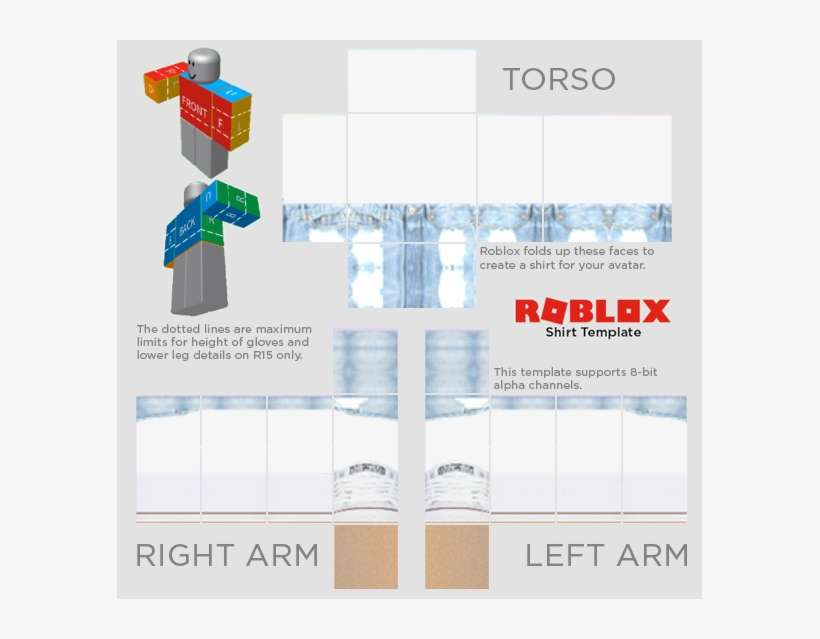 Roblox Shirt Template 2018 PNG Image | Transparent PNG Free