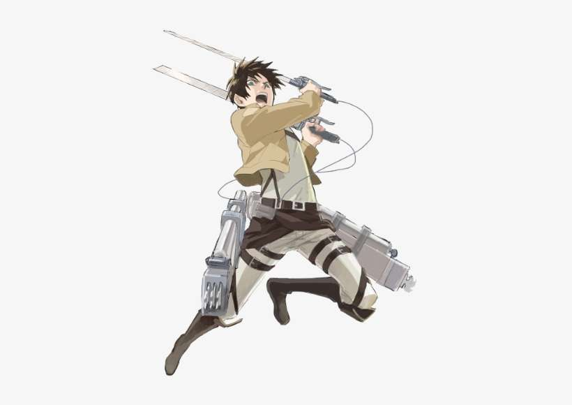 Eren Seemingly Of Germanic Heritage Is A Young Man Eren Yeager No Background Png Image Transparent Png Free Download On Seekpng