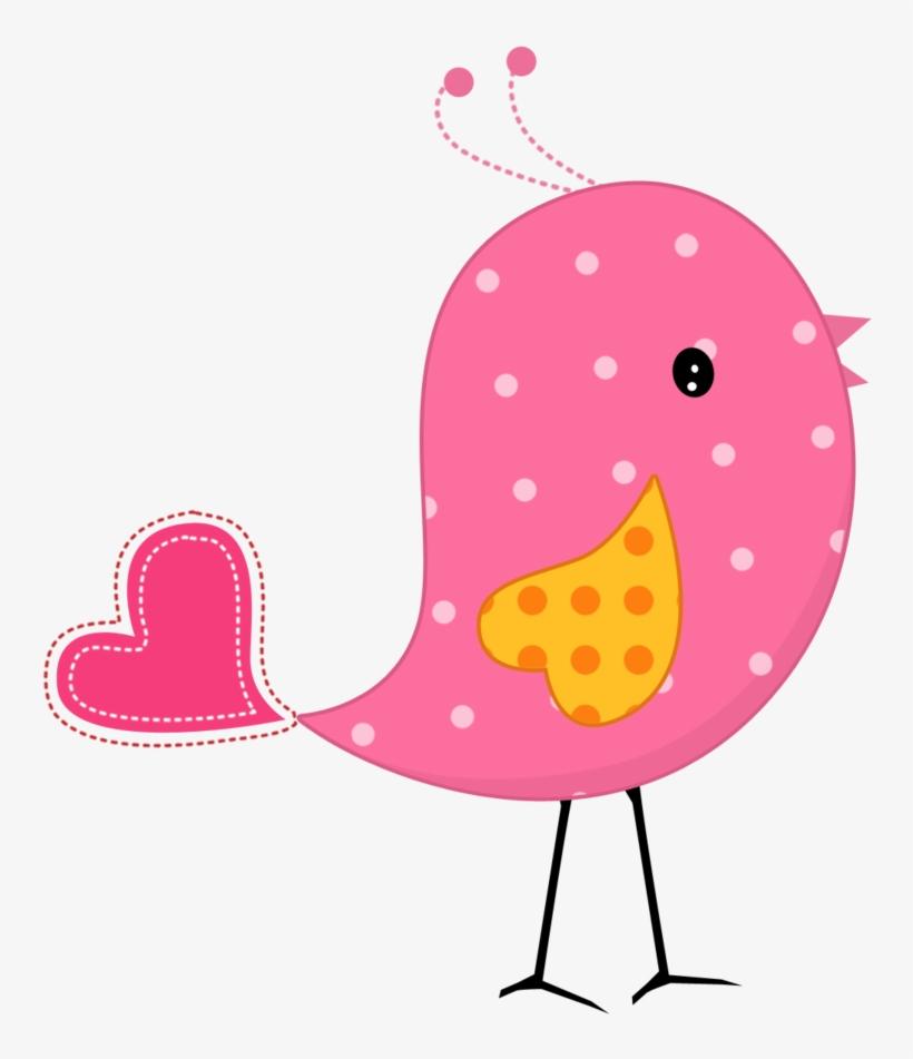Birds pink. And yellow bird clipart