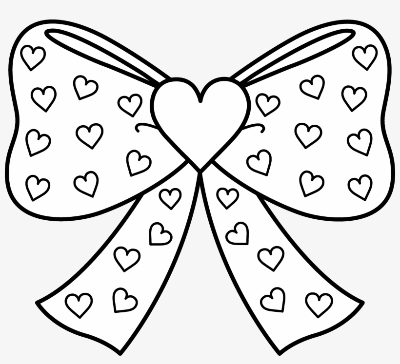 Hand Drawn Bow Jojo Siwa Coloring Pages Png Image Transparent