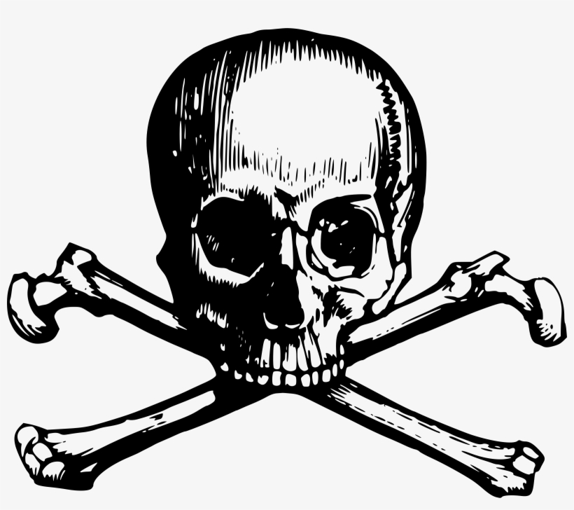 Big Image - Victorian Skull And Crossbones PNG Image