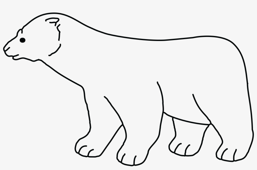 Free Clipart Of A Polar Bear Polar Bear Black And White Png Image Transparent Png Free Download On Seekpng