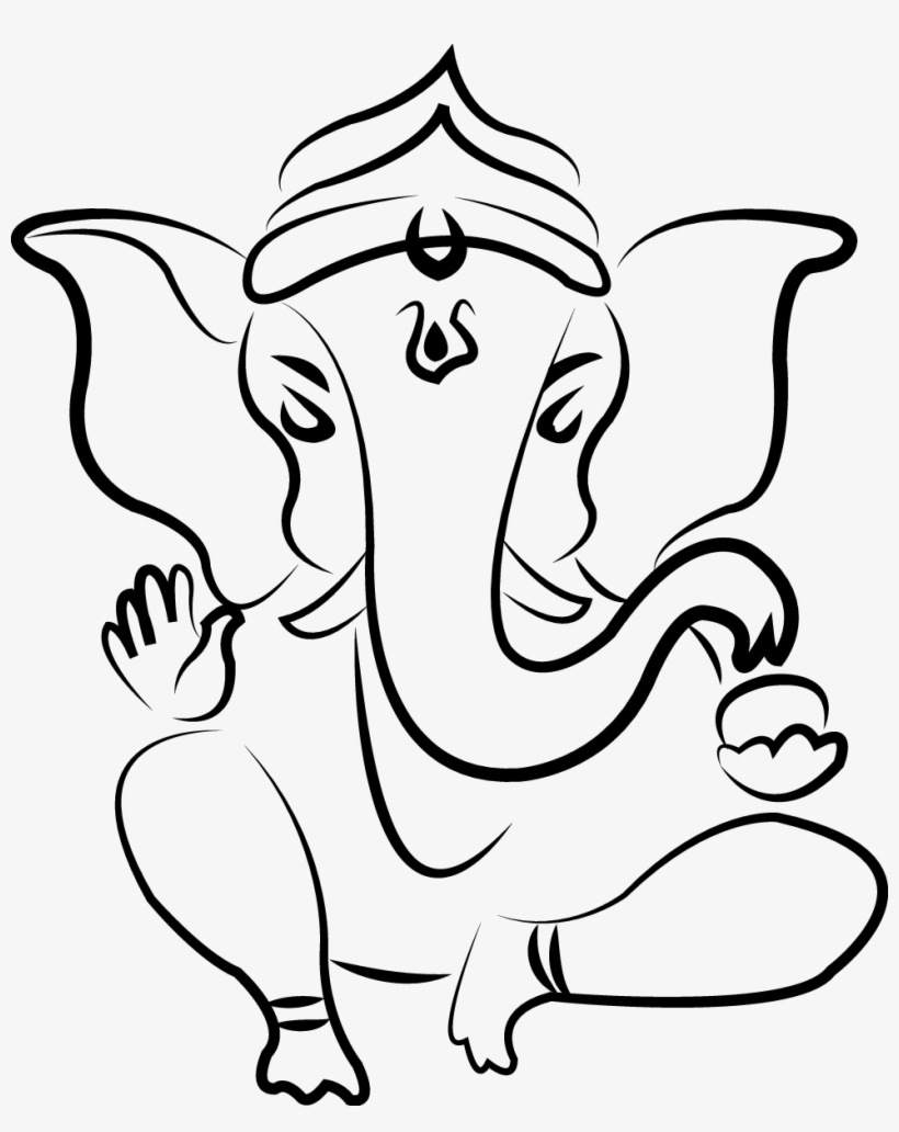 Ganesha Parvati Drawing Deity Sketch Ganesh Ji Sketch Easy Png Image Transparent Png Free Download On Seekpng