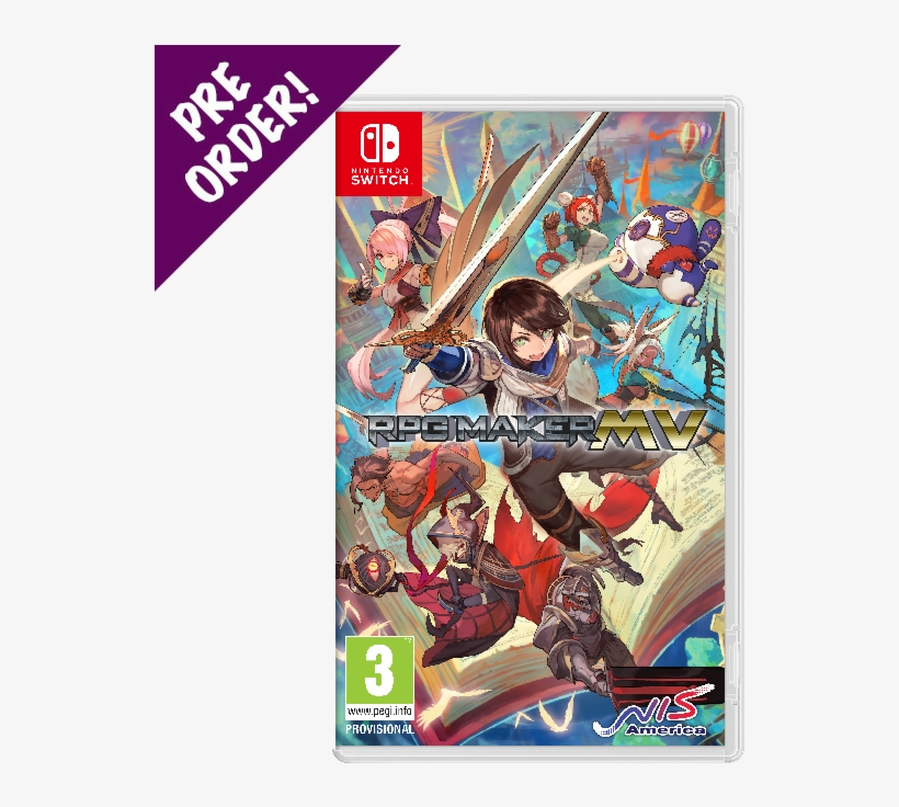 Rpg Maker Mv - Rpg Maker Mv Nintendo Switch PNG Image