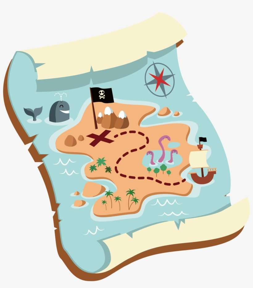 Map Clip Art Old - Treasure Map Cartoon Png PNG Image | Transparent Cartoon Treasure Map on