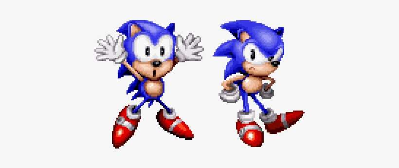 Sonic The Hedgeblog On Twitter Classic Sonic Cd Sonic Png Image Transparent Png Free Download On Seekpng
