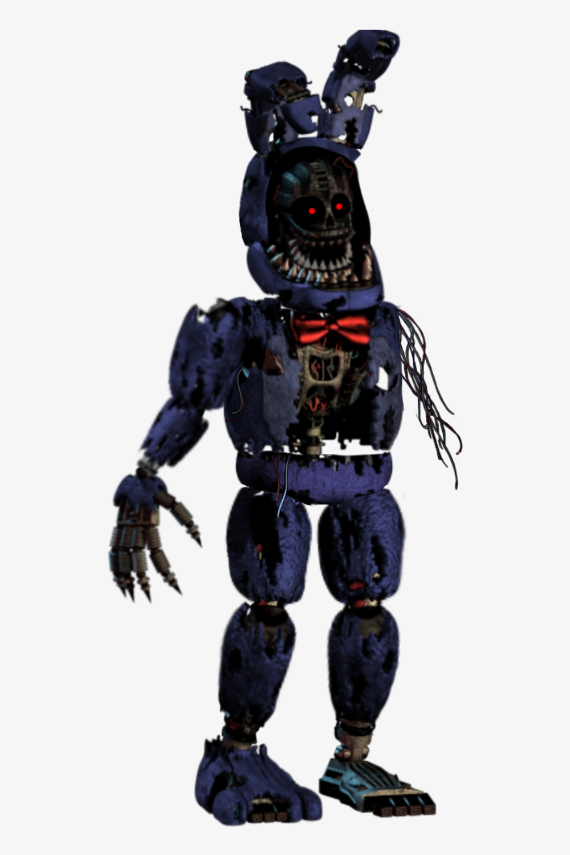 Nightmare Withered Bonnie Mcfarlane Fnaf Withered Bonnie Png Image Transparent Png Free Download On Seekpng