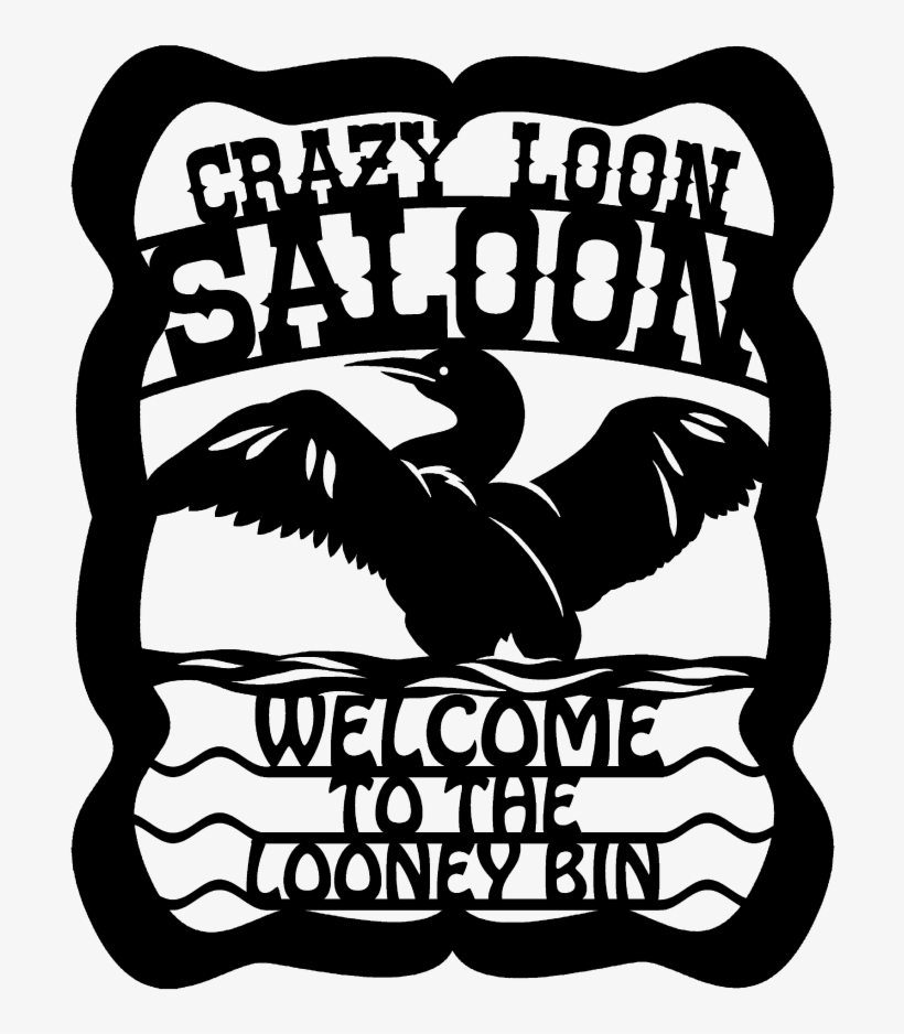 Crazy Saloon Dxf Metal Art File Create - Autocad Dxf PNG