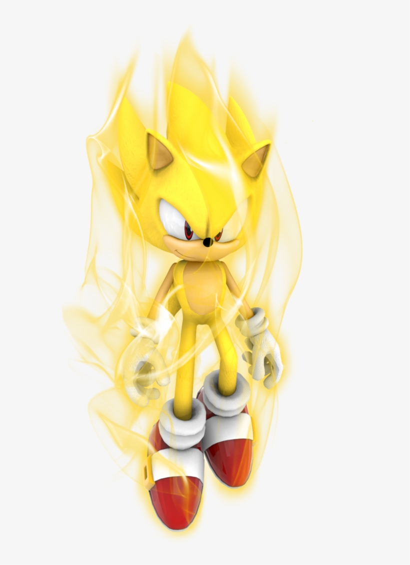 Super Sonic Aura Test By Kuroispeedster55 On Deviantart Super Sonic With Aura Png Image Transparent Png Free Download On Seekpng