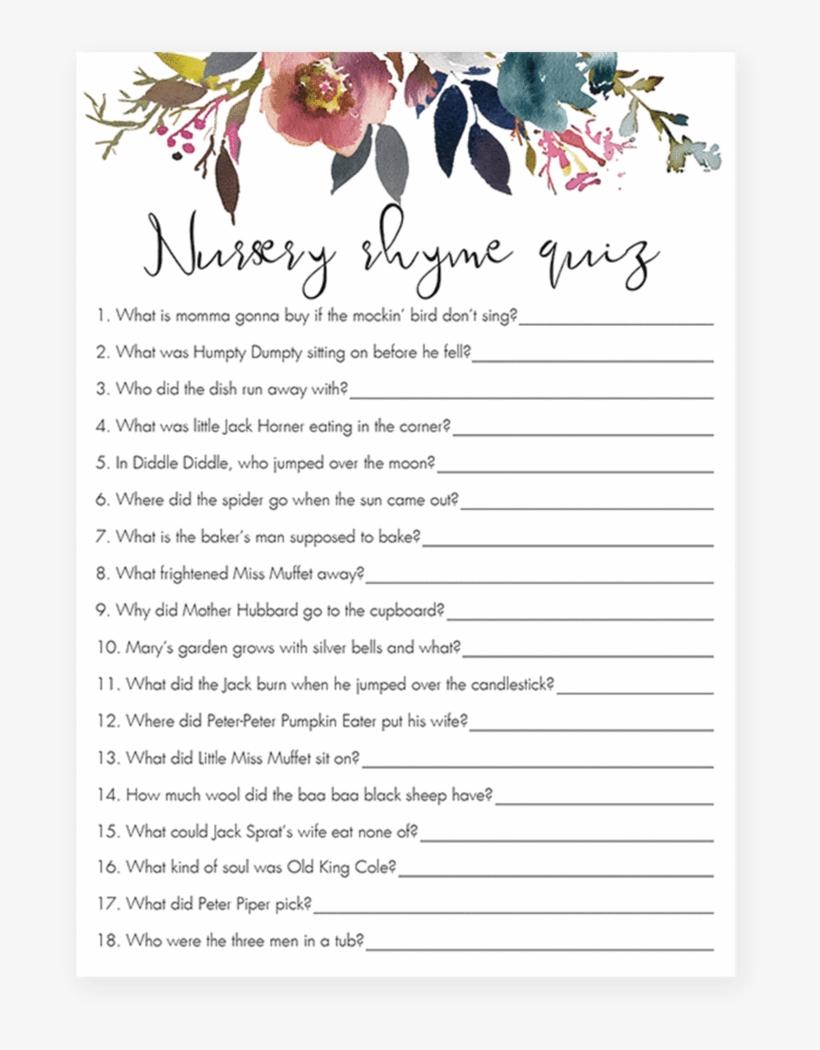 Boho Baby Sprinkle Game Nursery Rhyme Quiz Printable Advice For Parents Card Png Image Transparent Png Free Download On Seekpng