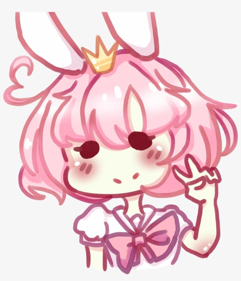 Candy Sweets Anime Manga Kawaii Pink Crown Anime Chibi Girl Peace