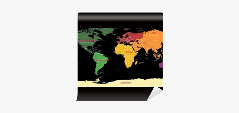 Detailed World Map With Names Of Continent And Countries ...