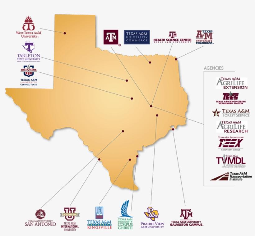 Map Of Texas Universities.Texas Universities Map Texas A M University System Map Png Image