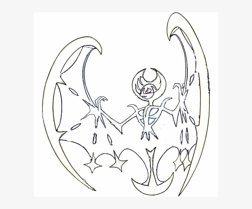 Lunala Outline Pokemon Sun And Moon Animeeve On Deviantart
