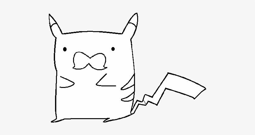 Dibujo De Pikachu Con Bigote Para Colorear Pikachu Com Bigode Para
