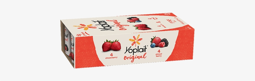 Strawberry And Mixed Berry - Yoplait Yogurt Cup Nutrition Facts, transparent png download