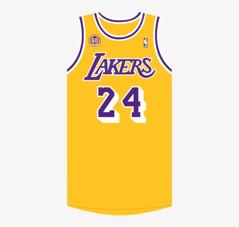 Showtime Throwback Lakers Jersey No Background Png Image Transparent Png Free Download On Seekpng