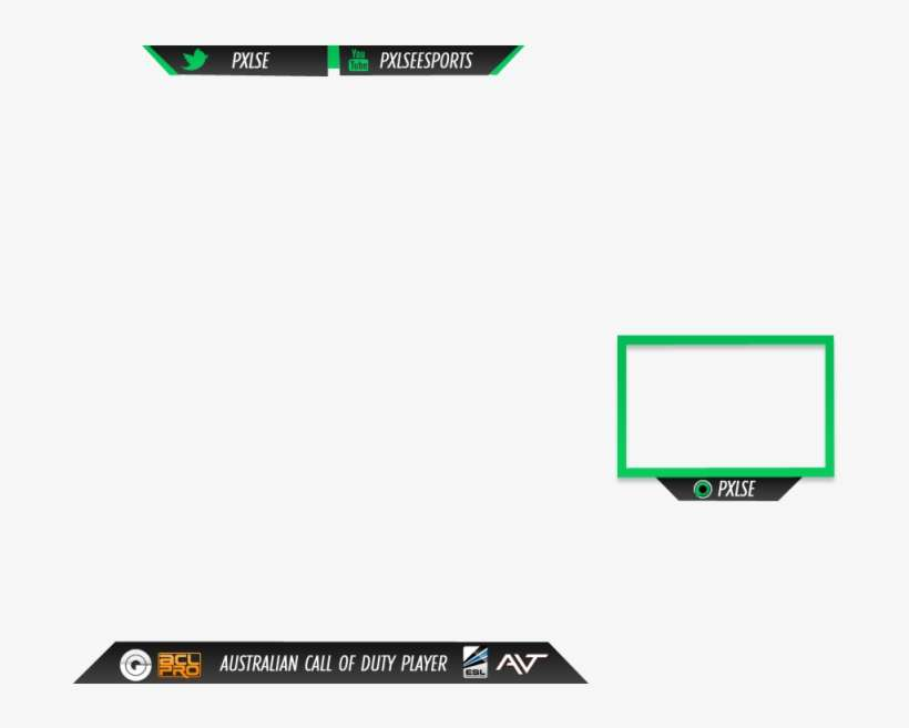 Twitch Stream Overlay - Small Twitch Overlay PNG Image