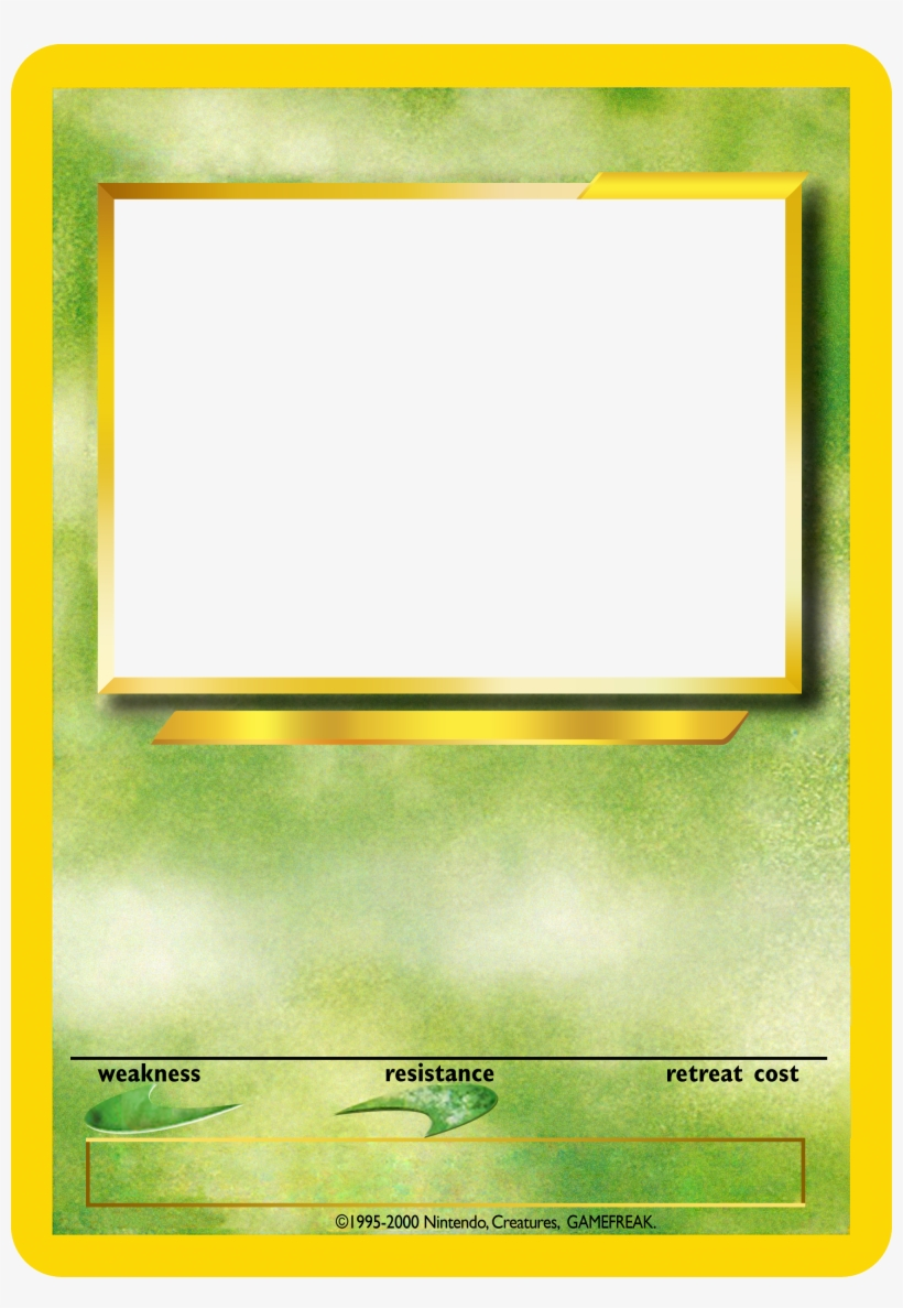 Lovely Blank Pokemon Card Template Gallery Png Image Transparent Png Free Download On Seekpng