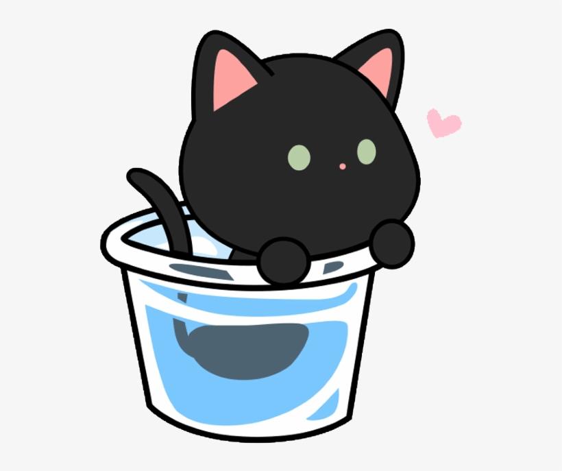 Cute Kawaii Edit Cat Cats Art Catlove Freetoedit Jpg Cat Png Image Transparent Png Free Download On Seekpng