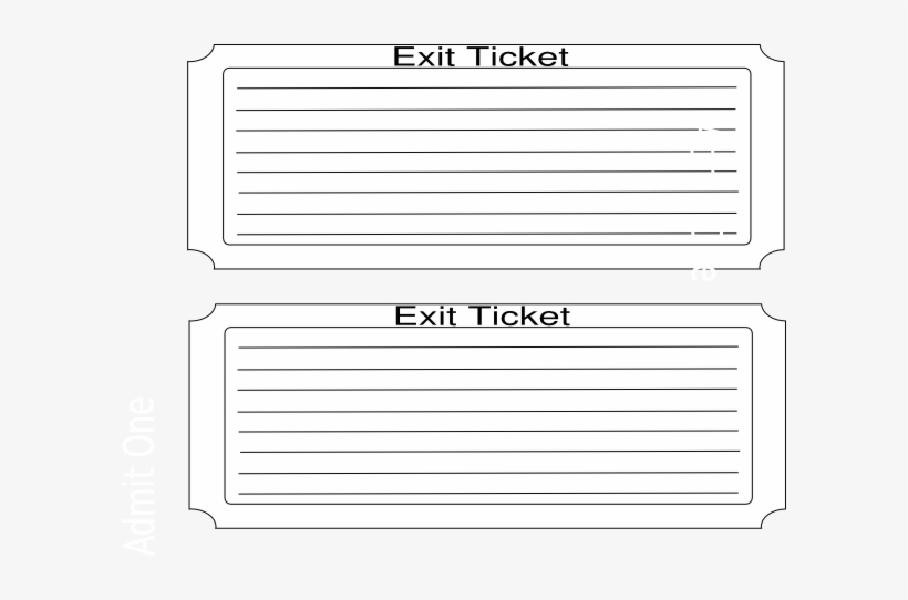 photo relating to Printable Exit Tickets named Exit Ticket Png - Absolutely free Printable Exit Ticket Template PNG