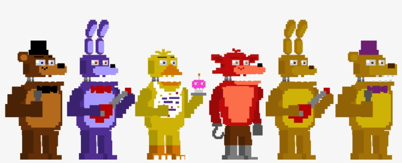Fnaf World Update 3 - Fnaf 4 Animatronics Minigames PNG