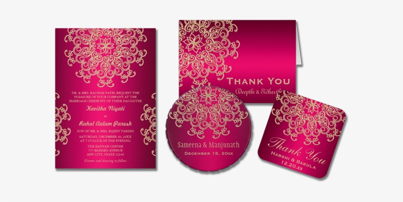 Indian Wedding Card Invitation Modern Indian Wedding Cards Design Png Image Transparent Png Free Download On Seekpng