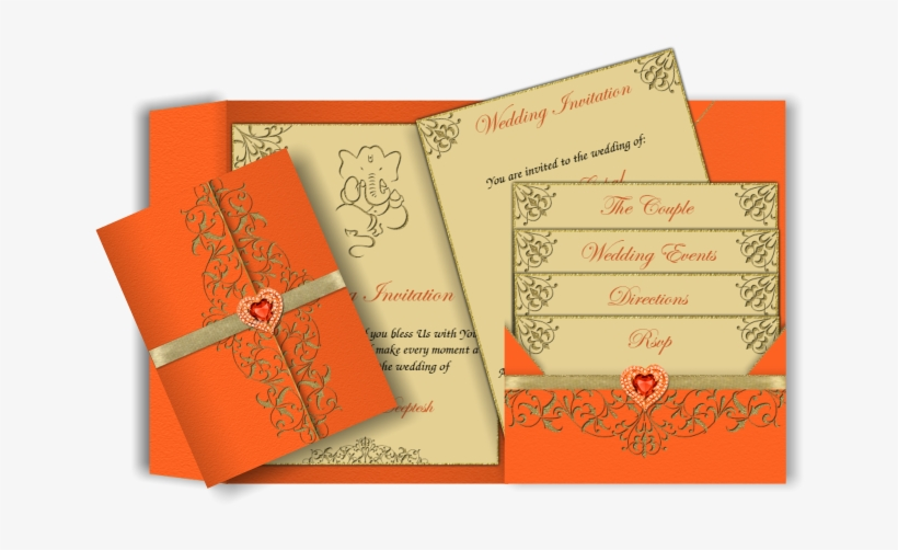 Pocket Style Email Indian Indian Wedding Invitation Cards Design