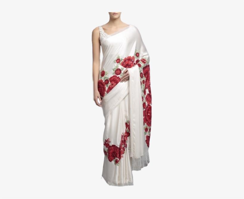 Saree Border Design Concept Flower Petals Stock Vector (Royalty Free)  1491521819