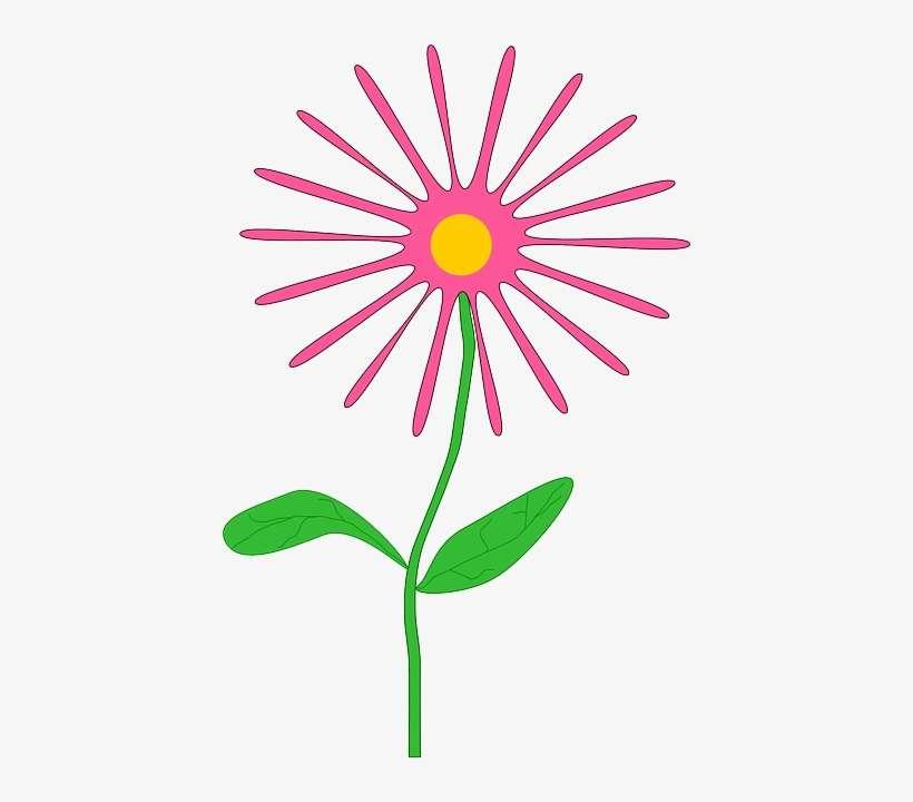 Green Flower Flowers Cartoon Border Pink Free April Flowers