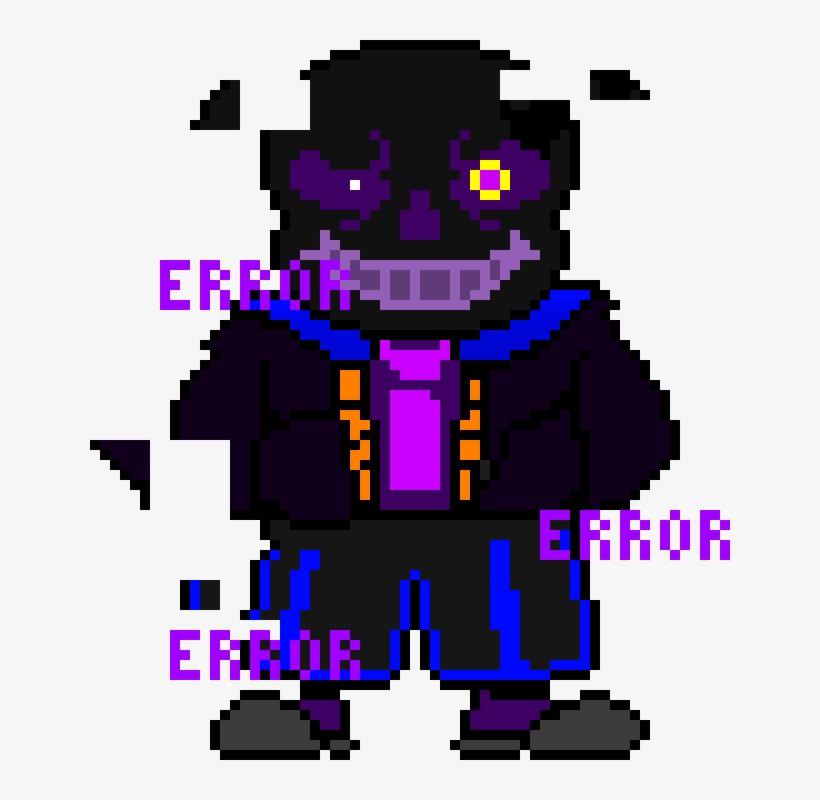 Void Sans - Error Sans Pixel Art Maker PNG Image