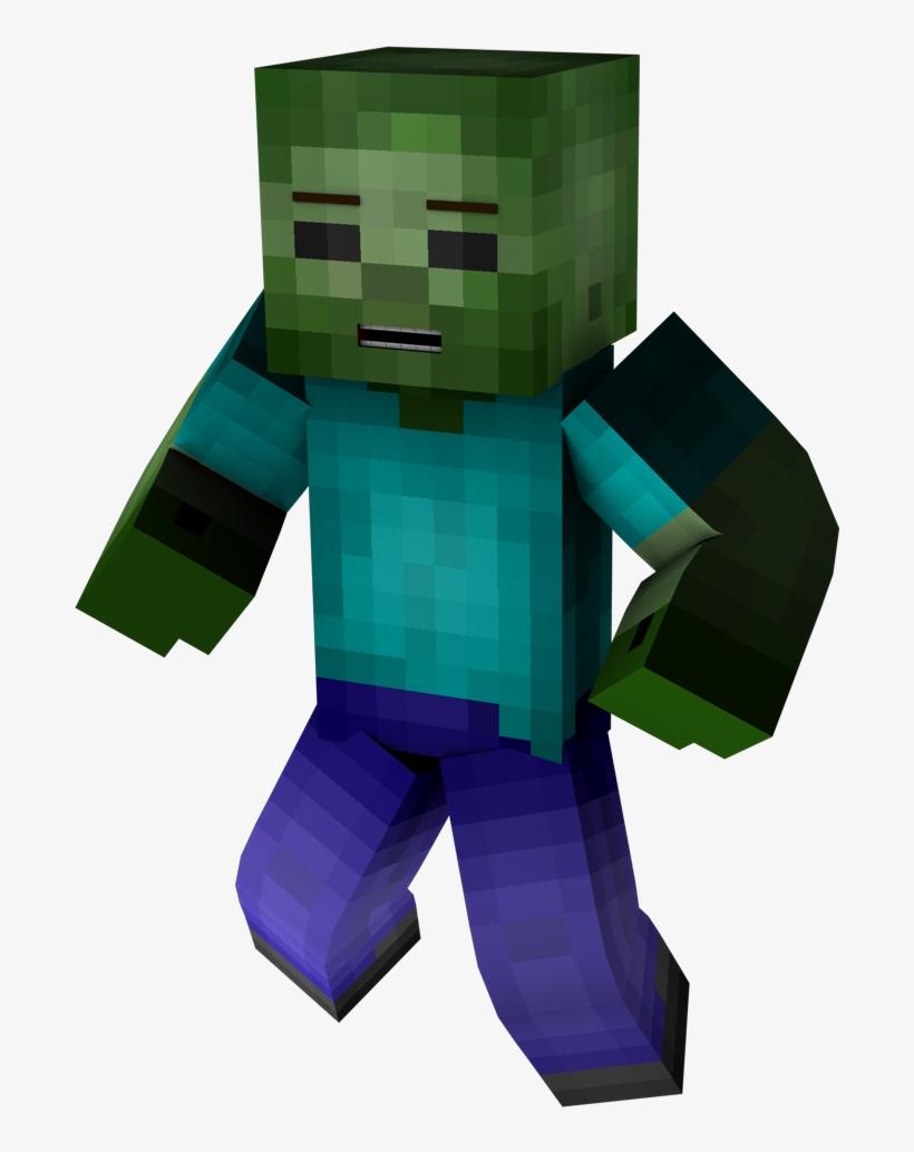 My Render Zombie - Minecraft Zombie Render PNG Image  Transparent