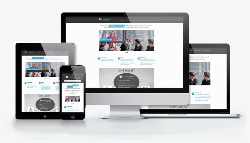 Website Mockup Responsive - Responsive Website Mockup Png PNG Image