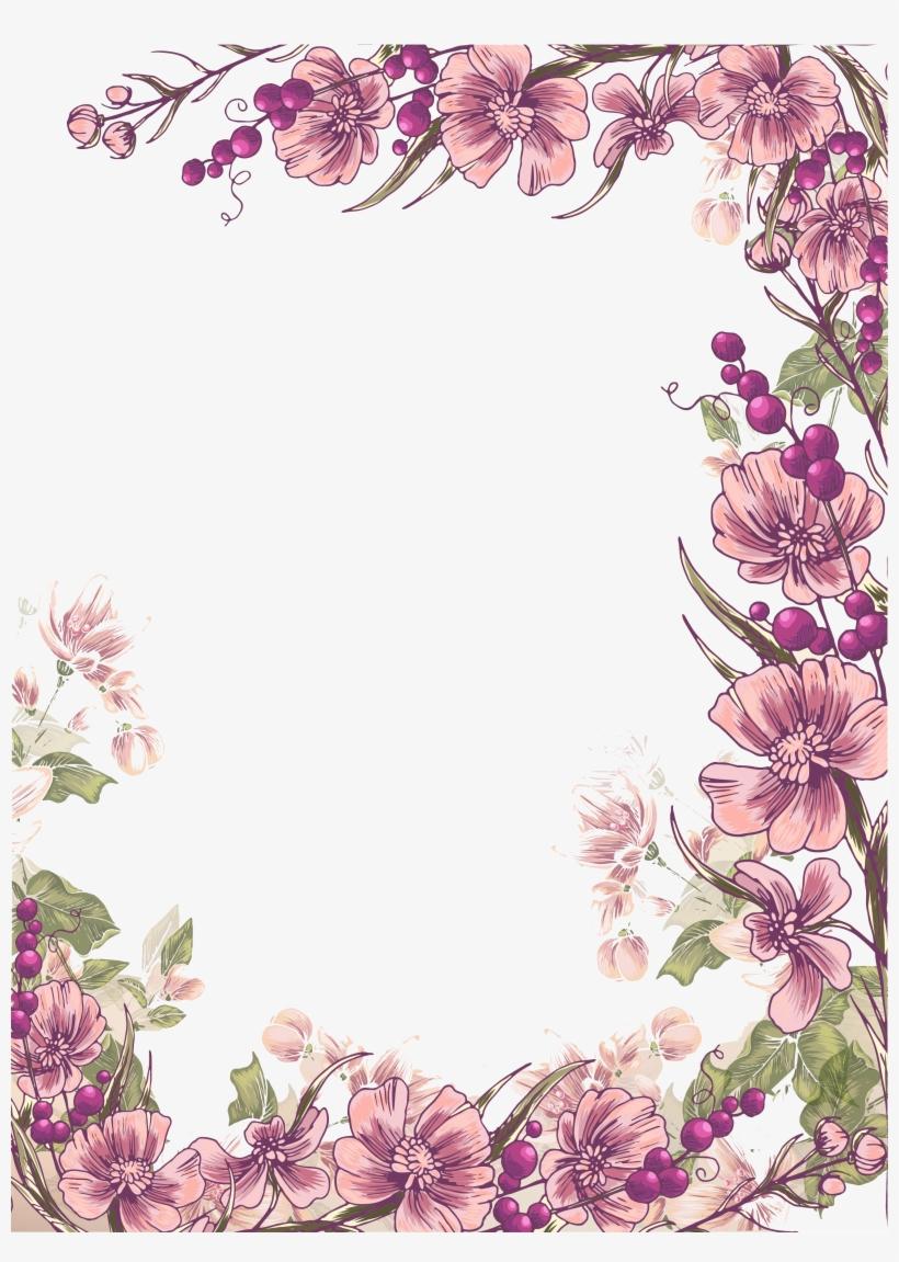 Flower Floral Design Euclidean Vector Illustration Flower Border