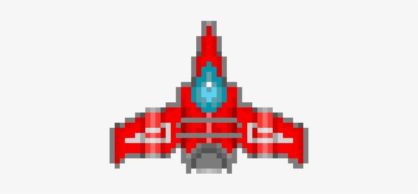Spaceship V Enemy Ship Pixel Art Png Png Image Transparent Png Free Download On Seekpng