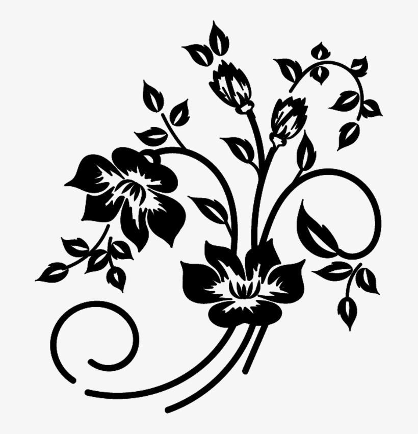 Flowers Png Vector Svg Royalty Free Download Flower Vector Black